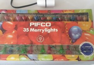 VINTAGE Pifco Merry Lights. 35 multicoloured light set