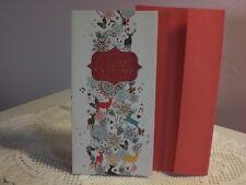 For Arts Sake - Christmas Card - Money Wallet - Reindeer & Gifts on front