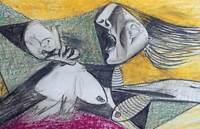 Pablo PICASSO Lithograph Preparatory GUERNICA Ltd Ed w/Custom FRAME