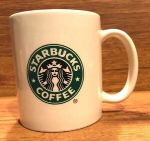 Starbucks Original Green Logo Coffee Tea Mermaid Siren White Mug Cup  - 2004