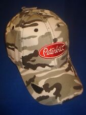 Peterbilt Hat:         Distressed Winter Camo Trucker's Cap     Free Ship in USA