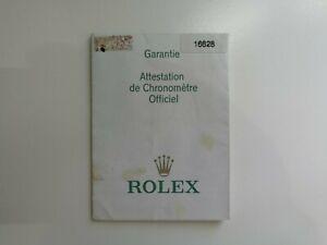 Rolex Yacht-Master 16628 Guarantee Warranty Certificate - Y Serial 03 - Genuine