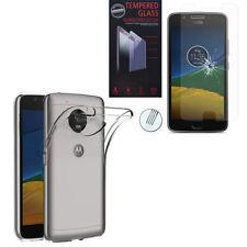 Coque Silicone TPU Clear gel Ultra Fine + Film Verre Trempe Model Motorola
