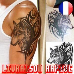 Tatouage Temporaire Imperméable Eau Autocollant Tattoo Homme Femme Loup Faux
