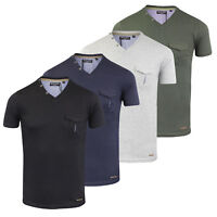 Mens Short Sleeve T-Shirt V Neck Cotton Designer by Brave Soul Sizes S - XXL