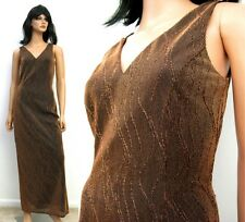 Metallic Copper Sleeveless Dress 4 S Cocktail Gown Shiny Sparkly Disco Costume