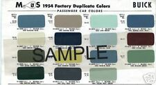 1954 CADILLAC FLEETWOOD COUPE DE VILLE SIXTY 54 PAINT CHIPS SHERWIN WILLIAMS 3