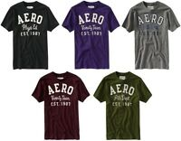 Aeropostale mens Frayed Graphic Aero Logo T shirt Tee  XS,S,M,L,XL,2XL,3XL NEW