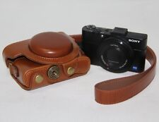 Ever Ready Camera PU Leather Bag Case Cover For Sony DSC- RX100 M III RX100M3 M3