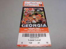Troy Trojans vs Georgia Bulldogs 9-20-2014 Football Game Ticket Stub