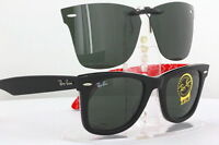 Custom Fit Polarized CLIP-ON Sunglasses For Ray-Ban RB2140 52x22 Rayban 2140 NEW