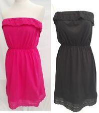 EX PEACOCKS PINK BLACK STRAPLESS SUMMER DAY  DRESS BEACH 8 10 12 14 16 18 20 22