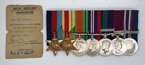 WW2 Africa Star Malta GSM Palestine LSGC medal group BLOWER Hinckley Leicester