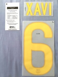 FC Barcelona XAVÍ #6 2011/12 Name And Number Sets Sipesa Heat Transfer Prints