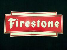 Vintage Firestone Tire Sign Old Gas Station Original Bowtie Heavy Metal