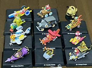 12Figure Full Set WACKY RACES DASTARDLY MUTTLEY MACHINE COLLECTION Hanna Barbera