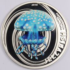 Pitcairn Islands 2 Dollars 2010, Silver Proof Australian Spotted Jellyfish w/COA