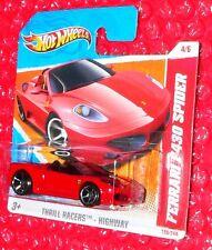 2011 Hot Wheels  Thrill Racers  Ferrari F430 Spider #190 T9897-05A0  short card