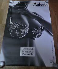 AUBADE Advertising Poster 93cm x 63cm Sexy Lingerie Nude, Lesson Leçon nº 51
