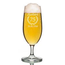 Leonardo VERRE PILS Verre à bière incl. GRAVURE anniversaire ährenkranz