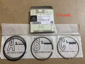 6x Piston Rings for Mercedes Benz M272 W204 W211 W212 2.5L 3.0L 88mm 2720304017