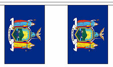 NEW YORK U.S. STATE BUNTING 9 metres 30 flags Polyester flag