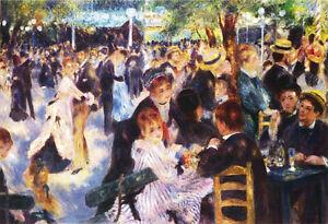 Pierre Auguste Renoir - Dance at Le Moulin de la Galette Vintage Fine Art Print