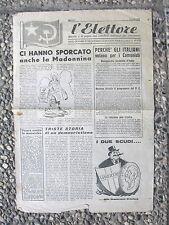 W34-POLITICA-P.C.I. L'ELETTORE GIORNALE MILANESE 1946