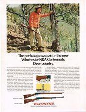 1971 WINCHESTER NRA Centennial Musket, Rifle Vtg Print Ad