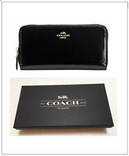 NWT- Coach F55734 Patent Leather Accordion Zip Around Wallet (Packaged in a Coac