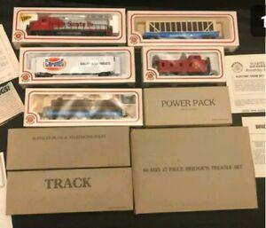 "Bachmann HO ""GEORGIA PACIFIC/CORONET"" Santa Fe Train Set BRAND NEW/FACTORY BOX!"