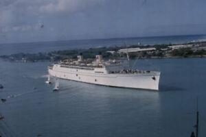 1963 SS Matsonia Steamship Passenger Ship Original Amateur Color Slide
