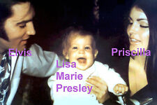 ELVIS PRESLEY PRISCILLA BABY LISA MARIE AT GRACELAND 1968 PHOTO CANDID