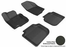 Fits 12-18 Volkswagen Passat 1ST 2ND Carbon Pattern Black Custom Fit Floor Mat