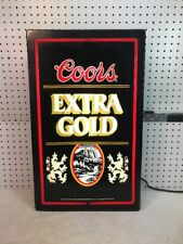 Vintage 1980's Coors Extra Gold Beer Fluorescent Bar Light, Nice!