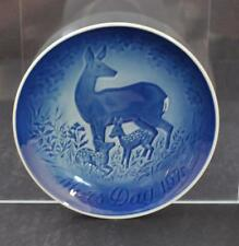 B&G Bing Grondahl Plate Porcelain Denmark Blue White Mother's Day 1975 Gy3