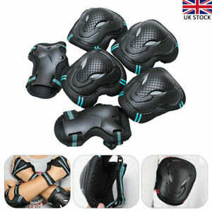 6x Elbow Wrist Knee Pads Sport Safety Protective Gear Guard for Adult Skate