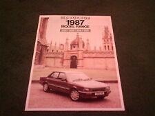 1987 de septiembre de 1986 Modelo PEUGEOT COCHE GAMA-Reino Unido Folleto 205 GTI 305 309 505 Como Nuevo