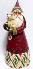 Jim Shore 2002 Classic Christmas Santa w/Cat Figurine ~ 105167FD