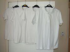4 Boys 10-11 white school polo shirts, George