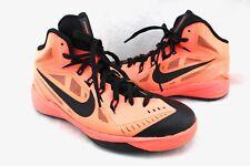 NIKE Hyperdunk Neon Bright Orange Black Sneakers 6.5Y Youth 654252-800 2014