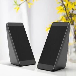 2pcs Usb Wired Computer Speakers Elevation Angle Horn Laptop Desktop Phone Audio