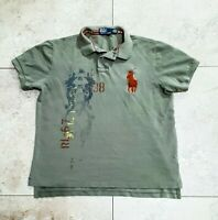Vintage Polo Ralph Lauren Rugby Asian Shirt Mountain Dragon RRL Double RL Large