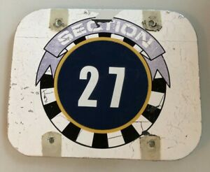 Section 27 Sign - Jack Murphy Qualcomm Stadium Chargers Padres - AUTHENTIC