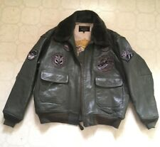 Nice Schott Green Leather G1 US Navy Wings Of Gold Jacket 5XL