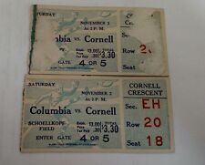 Rare 1936 Ivy League COLUMBIA VS CORNELL Football Ticket Stubs 2 SCHOELLKOPF