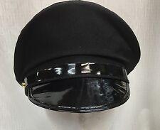 Black Chauffeur Hat Caps Limo Driver Dress Up Fancy Dress Costume Party Peak Hat