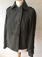 Ines Ladies Jacket Size 14 Khaki Green Linen Cotton Blend Blazer Light Coat