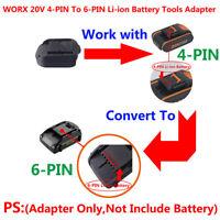 WORX 20V 4-PIN To 6-PIN Li-ion Batteries Cordless Tools Adapter (Adapter Only)