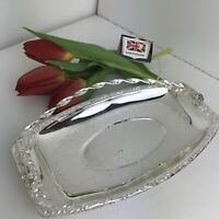 Queen Anne Silver Plated Sandwich Snacks Tray Vintage Tableware England 24 cm
